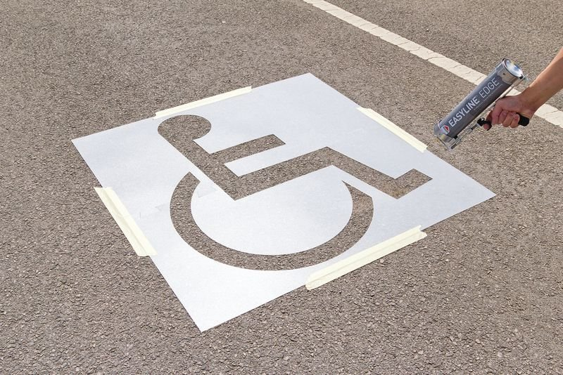 ROCOL® Disabled Parking Bay Stencil