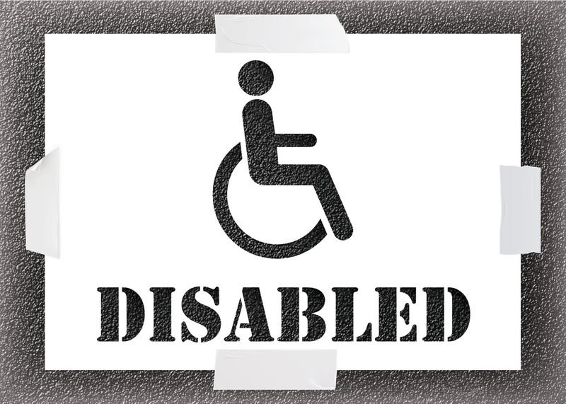 Disabled Stencil Kit