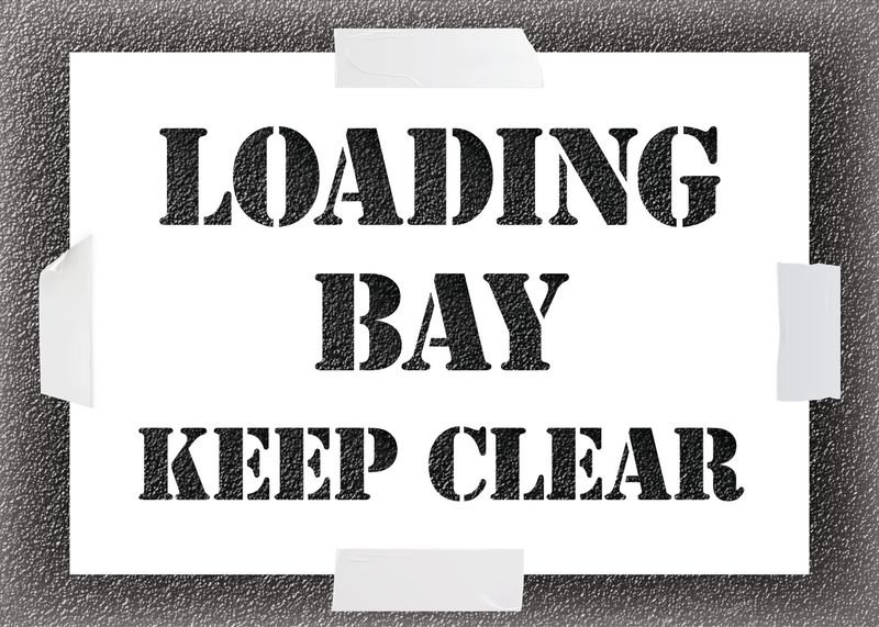 Reusable Stencil - Loading Bay Keep Clear