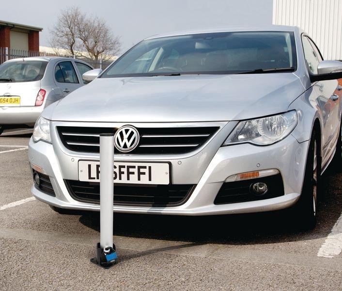 Fold Down Parking Posts - Padlocked - Traffic Cones, Bollards & Posts