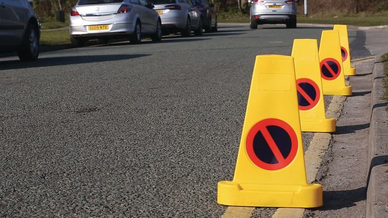 Triangular No Waiting Traffic Cone - Traffic Cones