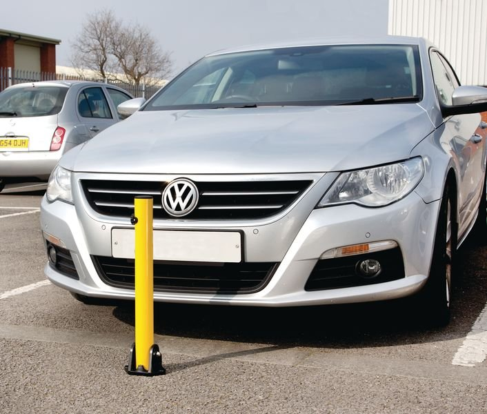 Fold Down Parking Posts - Keyed Differently - Traffic Cones, Bollards & Posts