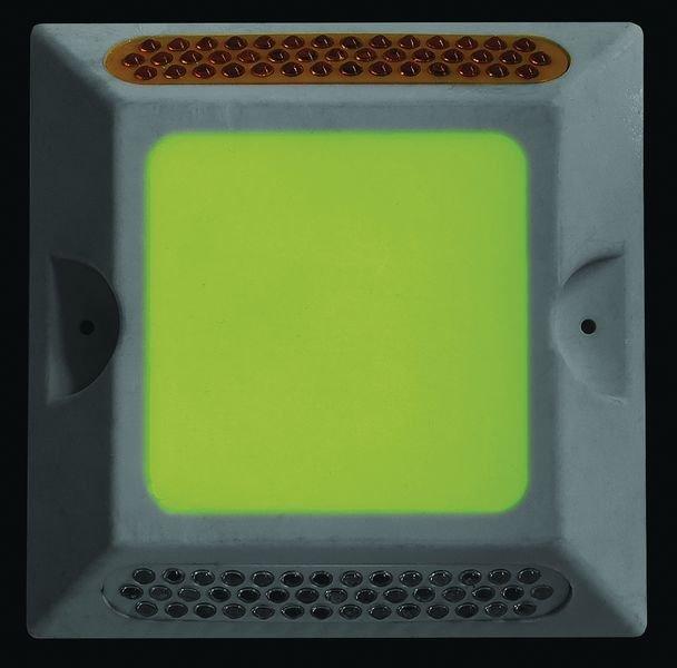 Photoluminescent Retro-Reflective Drive Lane Square Markers - Seton