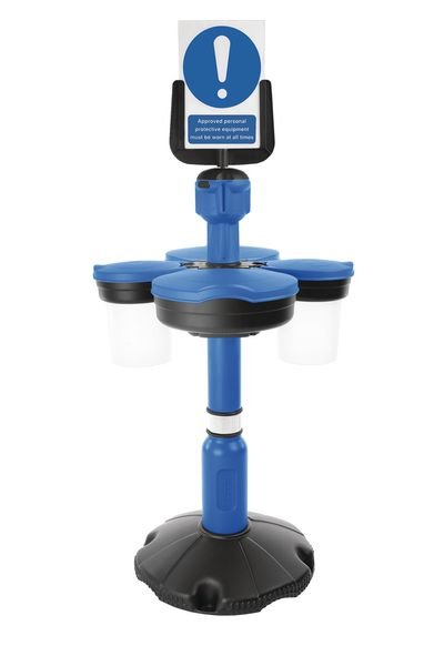 Skipper™ Safety Station with Sign Holder, Post and Base