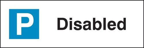 Disabled - Parking Bay Signs