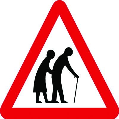 Traffic Signs - Elderly People Crossing