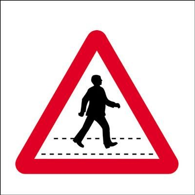 Pedestrian Crossing Economy Works Traffic Sign