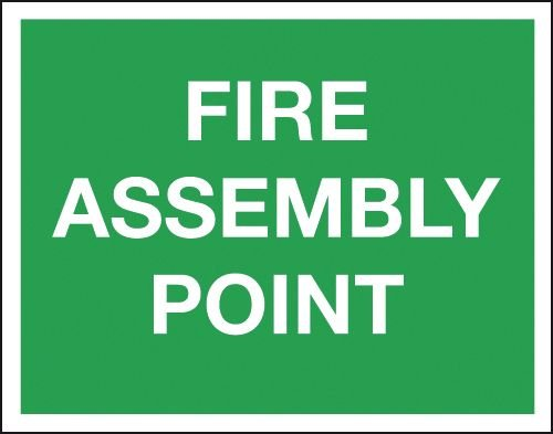 Fire Assembly Point - Class 1 Reflective Sign