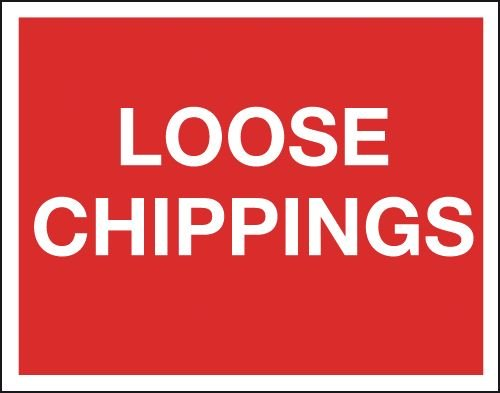 Loose Chippings - Class 1 Reflective Signs