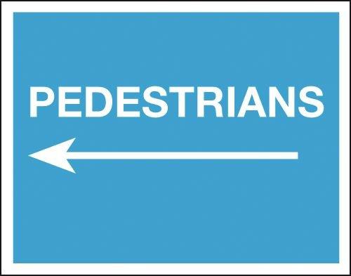 Pedestrians (Arrow Left) - Class 1 Reflective Sign
