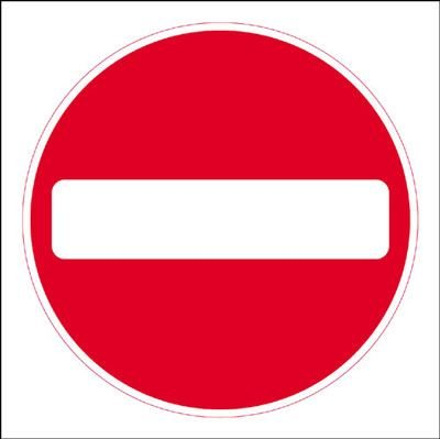 No Entry Economy Works Traffic Sign