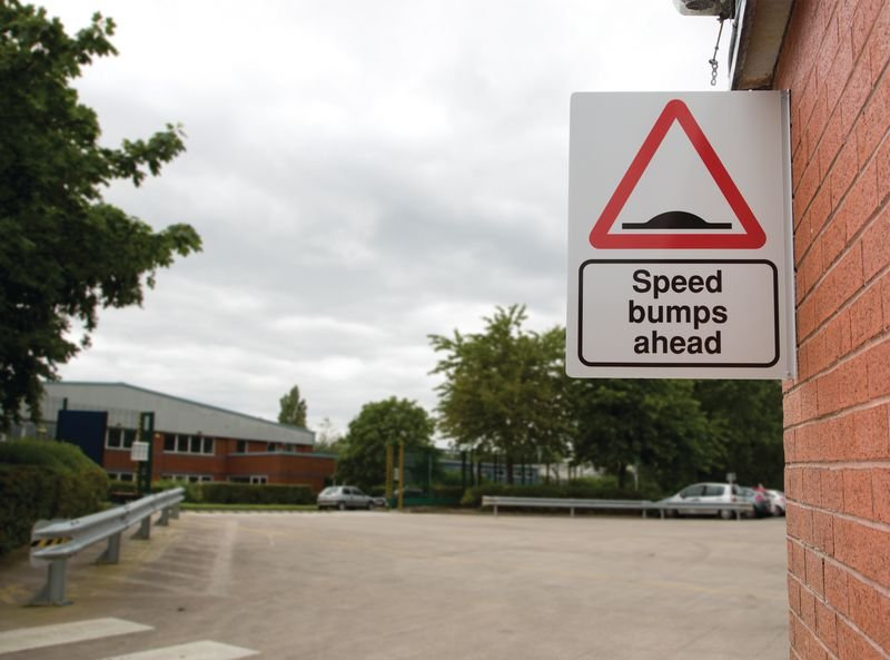 Speed Bumps Ahead Projecting Car Park Sign - Seton