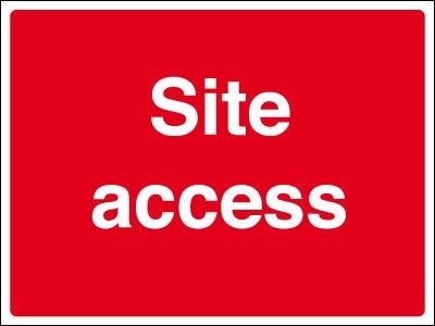 Construction Site Signs - Site Access