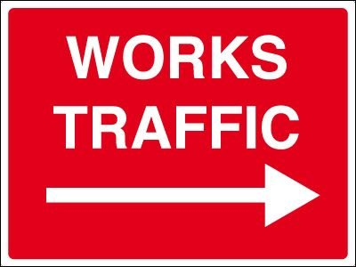 Construction Site Signs - Works Traffic Arrow Right