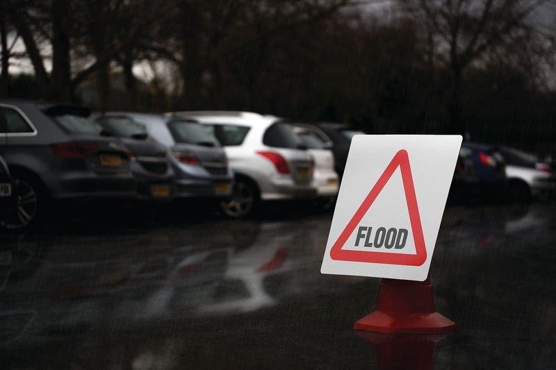 Traffic Cone Sign - Flood - Seton