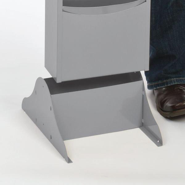 Vertical Con-Tur® Literature Racks optional Legs