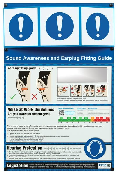 PPE Information Point - Earplug Fitting Guide with Leglislation
