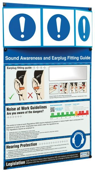 PPE Information Point - Earplug Fitting Guide with Leglislation - Seton