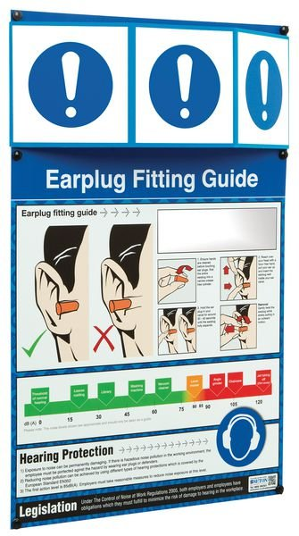 PPE Information Point - Earplug Fitting Guide - Seton
