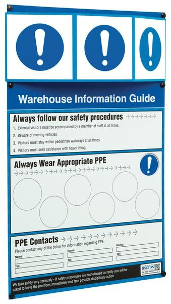 PPE Warehouse Safety Information Point - PPE Stations