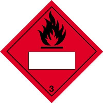 Flammable & 3 - Hazard Warning Diamond Placards