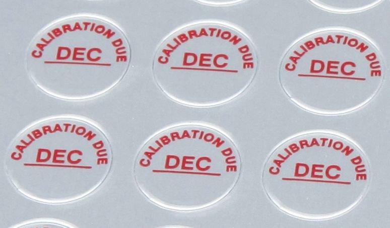 Monthly Calibration Due Dots - Seton