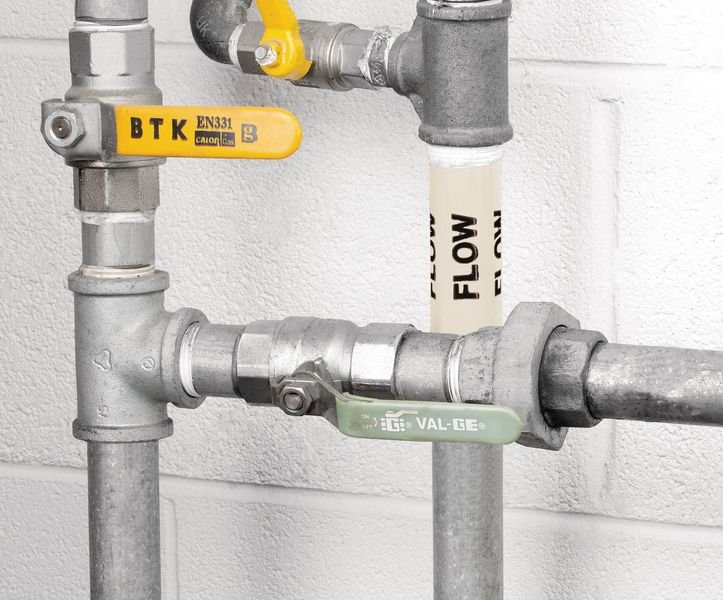 British Standard Pipeline Marking Tape - Flow - Seton