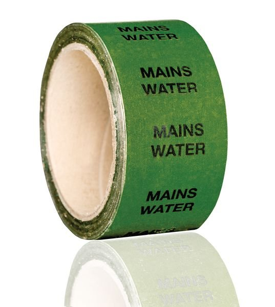 British Standard Pipeline Marking Tape - Mains Water