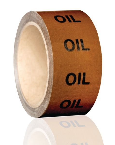 British Standard Pipeline Marking Tape - Oil - Seton