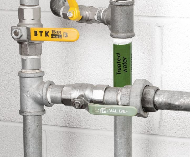 British Standard Pipeline Marking Tape - Treated Water - Seton