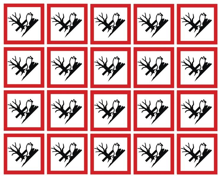 GHS Symbols On-a-Sheet - Dangerous for the Environment