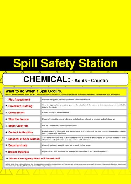 Chemical High Hazard Spill Safety Stations - Spill Response Equipment & Spill Kit Accessories