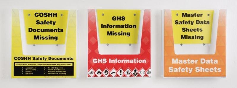 Hazardous Substances Safety Document Holder Multipacks