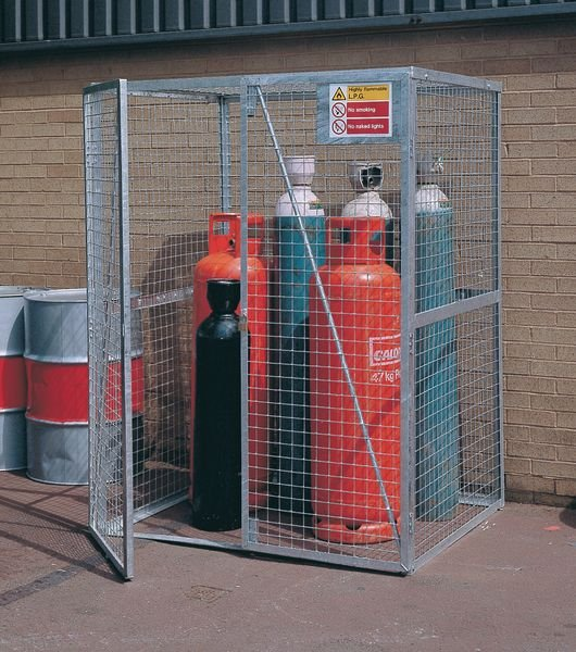 Cylinder Storage Lock Up Cages - Painted