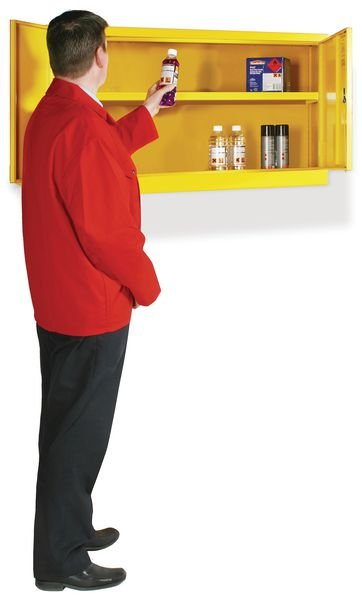 Wall-Mount Flammable Liquid Storage Cabinets