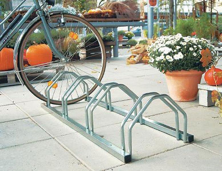 Floor-Mounted Bicycle Rack - 4 Berth
