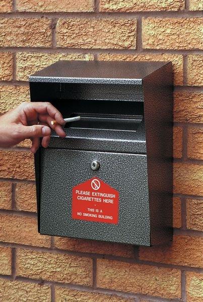 Wall-Mounted Cigarette Disposal Bins
