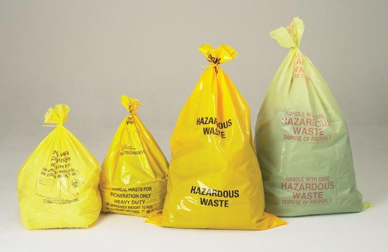 127 Litre Hazardous Waste Bag - Biohazard & Laboratory Spill Kits & Refills