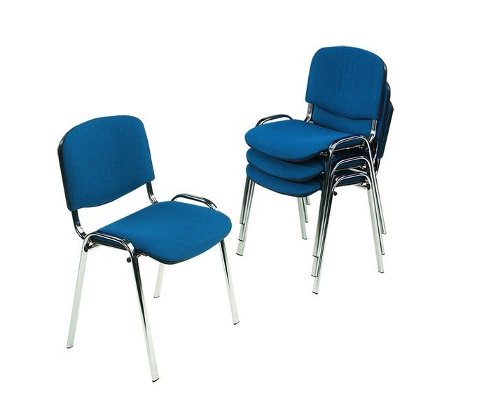 Stacking Chairs With Chrome Frame