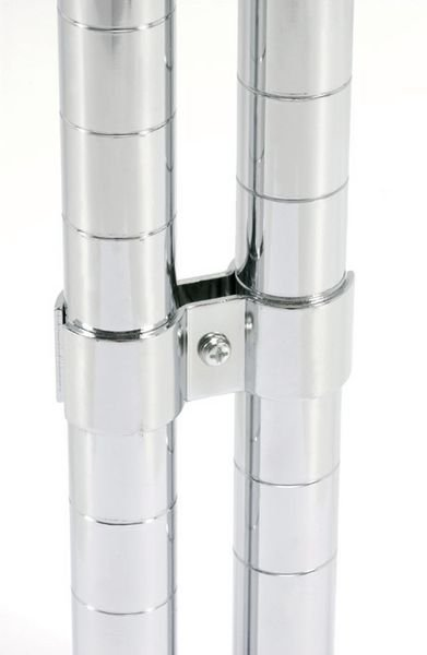 Set of 4 x Post Clamps for Chrome Wire Shelving
