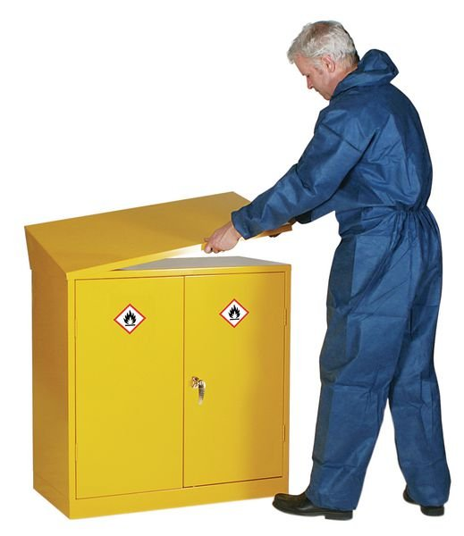 Dangerous & Flammable Substance Cabinet - Sloping Top - Medical Instruments