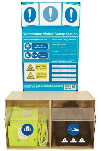 PPE Warehouse Visitor Safety Stations