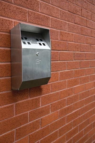 Wall Mounted Cigarette Bin - Safety Clothing (PPE) Signs