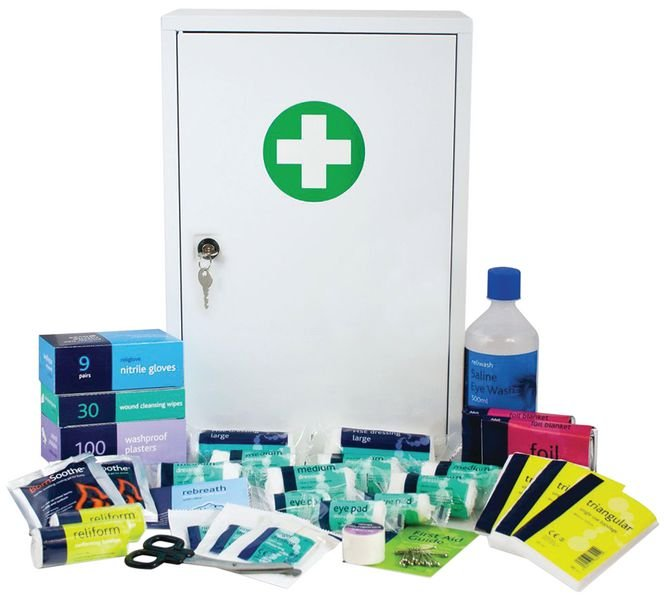 Stocked Metal First Aid Cabinets - Seton