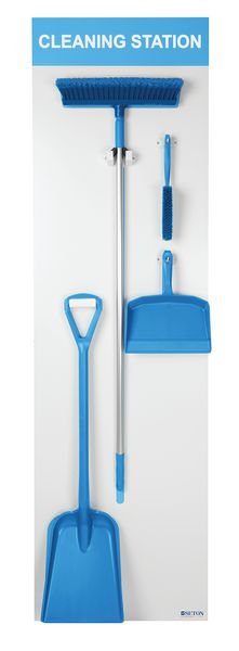 Dustpan, Brush, Broom & Shovel Shadow Boards