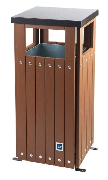 Outdoor Two Compartment Recycling & Waste Bin