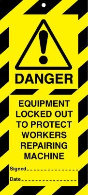 Equipment Locked Out To Protect Workers Lockout Tags