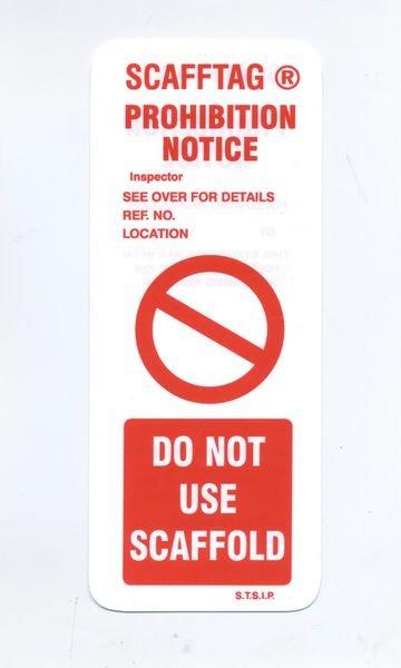 Scafftag® Prohibition Inserts