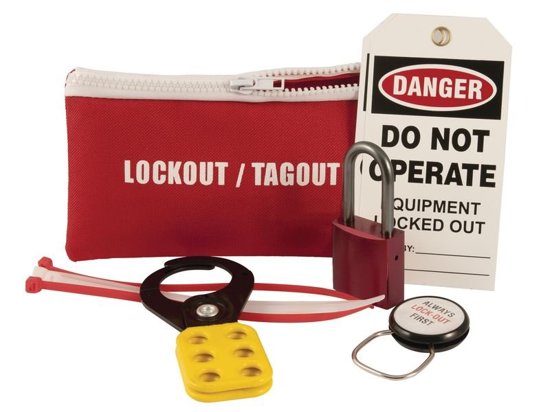 Belt Pouch Lockout Kit - Hand Protection Signs