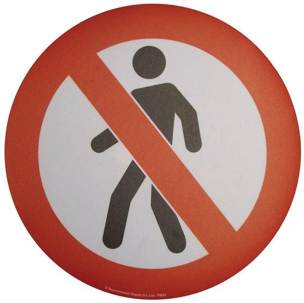 Floor Graphic Markers - No Pedestrians